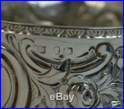 Large Georgian Solid Silver Circular Bowl or Salt Cellar