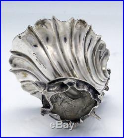 Large Pair CALDWELL Sterling TURTLES & SHELLS Open Salts