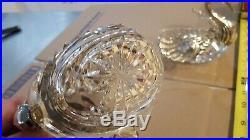 Large Sterling Silver crystal Swan Handcrafted Bowl Master Salt Pepper Cellar