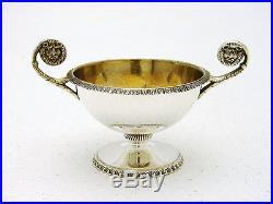 Lion Neoclassical Austrian Sterling Silver Set 12 Salt Cellar Hallmarked Sturm