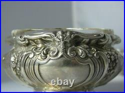 Lot of 2 Early Gorham Sterling Silver Open Salt Cellars #A5553 & #A1016 with Mask