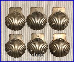 MACIEL Mexican Sterling Silver Shells 6 Salt Cellars Vintage