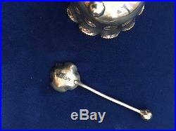 Mappin Brothers 1893-1894 Victorian Sterling Silver Boxed Salt Cellar & Spoons