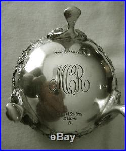 Matched Pair S. Kirk & Son Inc. Repousse No. 3 Sterling Silver Open Salts