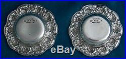Matching Tiffany Gilt Salt Cellars & English George III And American Salt Spoons