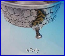 Mixed Metals by Dominick and Haff Sterling Silver Salt Dip with Bug c1880 (#3455)