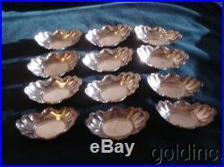 Nice Set Of 12 Knowles Sterling Silver Salt Cellars No Monograms