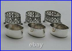 ODIOT 3 SALERONS EN ARGENT MASSIF LOUIS XVI Sterling Silver 3pc Salts Cellars