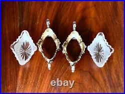 Ornate 19thc Bruckmann & Sohne German 800 Silver Salt Cellars Rococo No Mono
