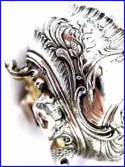 PUIFORCAT French Sterling Silver Salt Cellars 2 pc & spons 2pc 1857