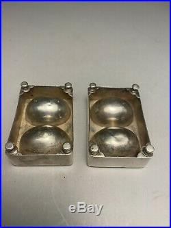 Pair Of 13 Loth Austrian. 812 Silver Condiment Salt Cellars c. 1845