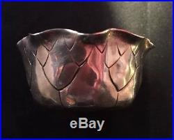 Pair Of Aesthetic Shiebler Sterling Silver Leaf Form Open Salts