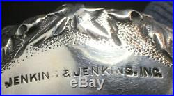 Pair Of Jenkins & Jenkins Repousse Sterling Silver Open Salt Cellars Baltimore