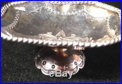 Pair Of Navajo Vintage Sterling Silver Open Salt Cellars Rare Form
