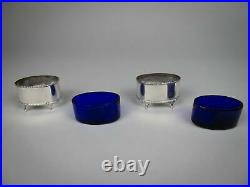 Pair Of Sterling Silver Salt Cellars by Stokes & Ireland, Chester, 1919