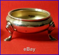 Pair of Antique Tiffany & Co. Sterling Silver Footed Master Salt Cellars. M