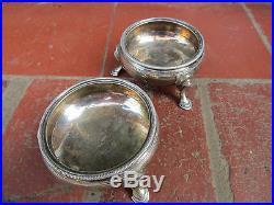 Pair of Henry Corry GEORGE III Sterling Silver SALT CELLARS London 1766 in Vgc