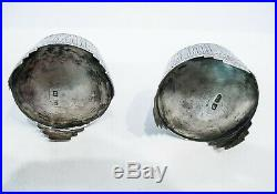 Pair of Russian Silver Salt Cellars