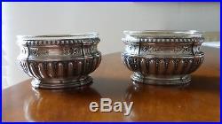 Paire salerons argent massif Style Louis XVI. Silver salt cellars Silbersaltern