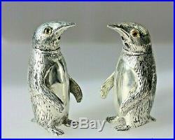 Penguin Silver Plated Salt & Pepper Cellars /shakers