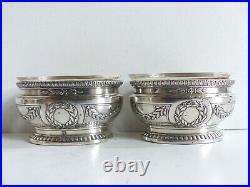 Puiforcat Superb Pair Of Antique French Sterling Silver 950 Salt Cellars (#2)