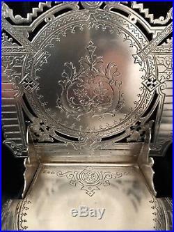 RUSSIAN ANTIQUE Imperial Pre-Rev STERLING SILVER SALT CELLAR THRONE Hallmark