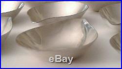 Rare #347 sterling silver Towle Contour miniature salt cellars or sauce