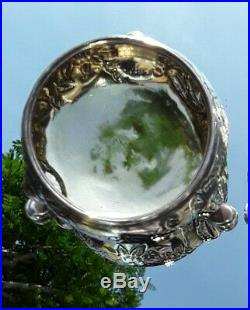 Rare Beautiful Georgian 1750 London David Hennell Solid Silver Salt Cellars