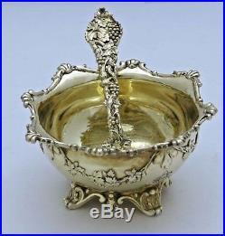 Rare Hunt & Roskell CHASED VINE Open Salt & SALT SPOON English Silver
