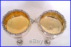 Rare Pair Of Beautiful Solid Silver George III Open Salt Cellars John Rich 1788