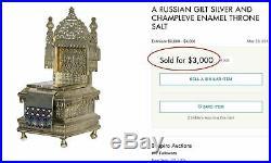 Rare Russian Imperial Silver Salt Cellar, 1862