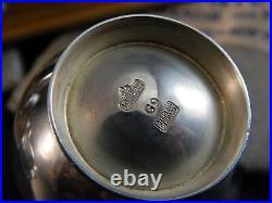 Rare Set 6 Mid Century Anton Michelsen Copenhagen Denmark Sterling Silver Salts