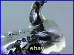 Rare Silver figural Pig Salt Cellar & Pepper Pot JOSEPH BRAHAM London c1890