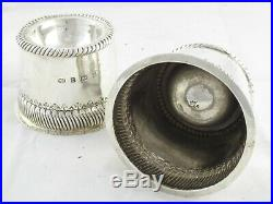 Rare Solid Sterling Silver Salt Cellars Duchess Sutherland Cripples Guild 1910