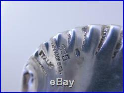 Rare Sterling TIFFANY & CO Salt Cellar Dish with Spoon Narragansett shell shape