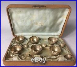 Redlich & Co Sterling Silver Salt Cellar & Spoon Set Box Provenance Portland ME