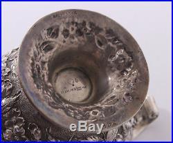 Repousse Sterling Silver Master Salt Cellar by Baltimore Silversmiths 1903-1905