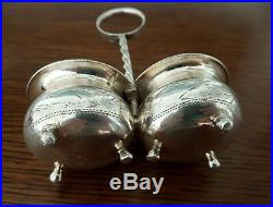 Russian 84 silver salt cellar Russland silberschälchen salière en argent Russie