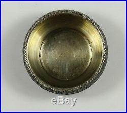 Russian Cloisonne salt Cellar IVAN SALTYKOV Moscow SILVER & ENAMEL 84 zolotniki