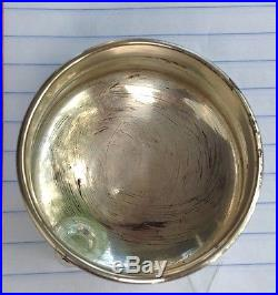 Russian Silver Salt Cellar With Written Proverb