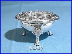 S Kirk & Son Sterling Footed Open Salt #58 Repousse No Mono
