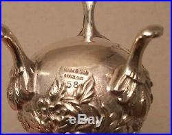 S. Kirk & Son Sterling Silver Repousse Set Salt, Salt Spoon and Shaker