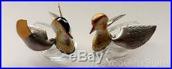 SIGNED Japanese STERLING SILVER salt-pepper MANDARIN DUCK Cellars & Spoons