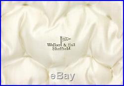 SOLID SILVER Cruet Set SALT CELLARS & SPOONS Sheffield 1911 WALKER & HALL