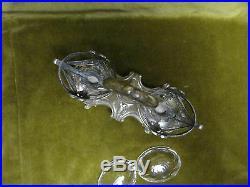 Saliere double argent minerve rocaille Debain(french silver salt cellars) 182g