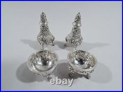 Schofield Salts & Peppers Antique Baltimore Set 4 American Sterling Silver