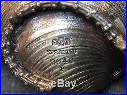 Set 1883 Gorham Shell Narragansett Salt Cellars Spoons Sterling Silver Antq Box