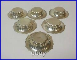 Set/6 G. H. French Sterling Silver Salt Cellars or Nut Dishes, Monogram B