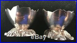 Set Of 12 Gorham Sterling Silver Open Salt Cellars Cracked Egg Aesthetic Period