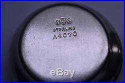 Set Of 3 Antique Gorham Sterling Silver Salt Cellar Dishes A4070